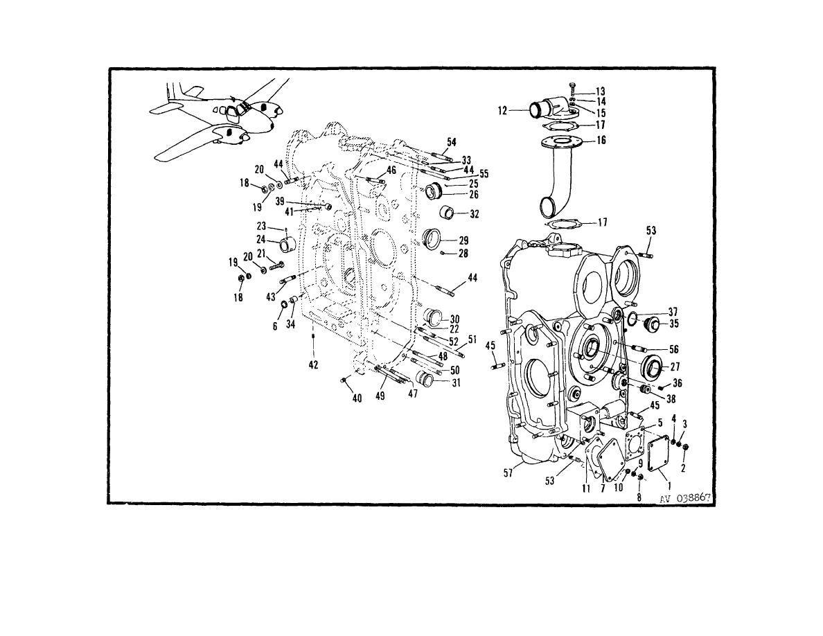 rotary airplane engine diagram