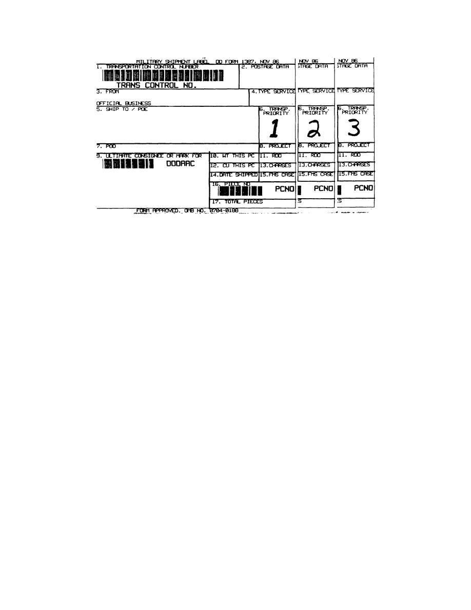 Figure 3 16 Dd Form 1387 Military Shipment Label